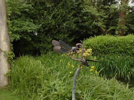 Dragonfly sculptures at Pashley Manor